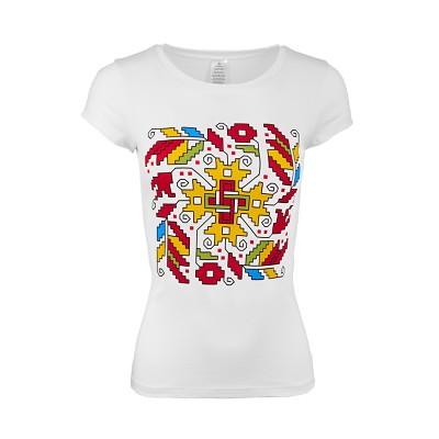 Дамска тениска с щампа шевица
