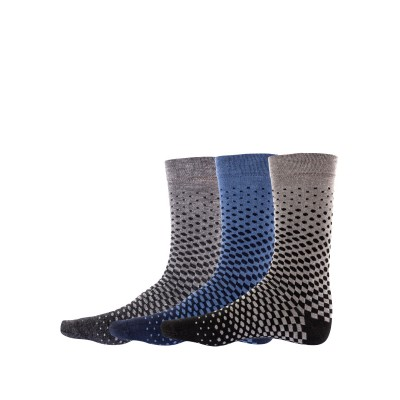 Set of 3 pairs men`s cotton socks