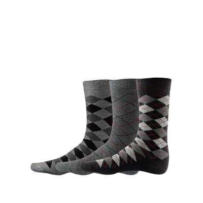 Сет от 3 чифта мъжки памучни чорапи