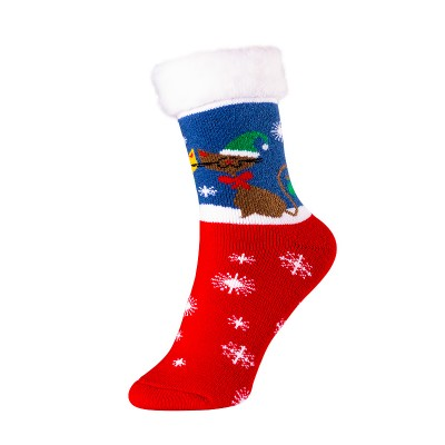 Ladies`Christmas acrylic socks
