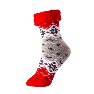Дамски коледни чорапи от пан